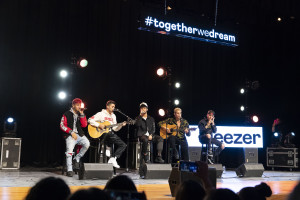 CNCO Performance at Milby HS for Deezer streaming services