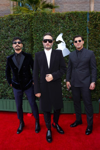 LAS VEGAS, NEVADA - NOVEMBER 14: (L-R) Jesus Alberto Navarro Rosas, Julio Ramírez Eguía, Bibi Marín of Reik attend the 20th annual Latin GRAMMY Awards at MGM Grand Garden Arena on November 14, 2019 in Las Vegas, Nevada. (Photo by Rodrigo Varela/Getty Images for LARAS)