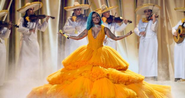 CORAL GABLES, FLORIDA - JULY 22: Karol G performs onstage at Premios Juventud 2021 at Watsco Center on July 22, 2021 in Coral Gables, Florida. (Photo by Jason Koerner/Getty Images for Univision)